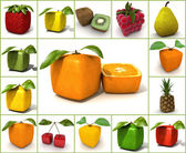 Original  fruit collage — Stock Photo