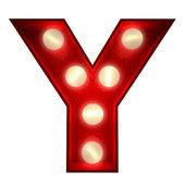 Y świecące — Zdjęcie stockowe