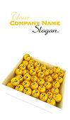 Question box slogan — Stock Photo