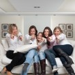 Family girls fun pointing — Stock Photo #66266593