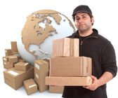International courier business — Stock Photo