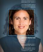 Biometrics, female — Stock Photo