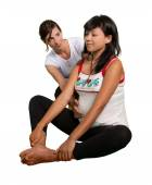 Yoga for pregnant mother — Stock Photo