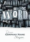 Word block customizable — Stock fotografie