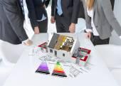 Energy efficient construction meeting — Stock Photo