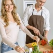 Couple preparing a healthy meal — Stock Photo #66270717