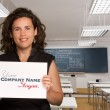 Teacher with a message — Stock Photo #66273967