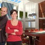Smiling team in designer office — Stock Photo #66274651