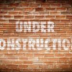 Under construction words — Stock Photo #66277059