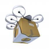 Drone handlowych z pola — Zdjęcie stockowe