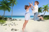 Happy children on holiday — Stock Photo