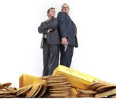 Gangsters and gold — Stock Photo