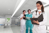 Medical personnel at the hospital — Stock Photo