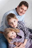 Dad and kids — Stock Photo
