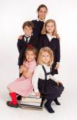 Schoolchildren portrait — Stock Photo