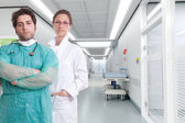 Serious hospital staff — Stock Photo
