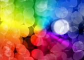 Multicolored twinkling lights — Stock Photo