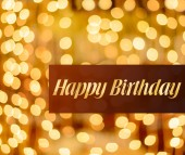 Happy birthday lighted background — Stock Photo