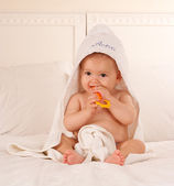 Baby after the bath — Foto Stock