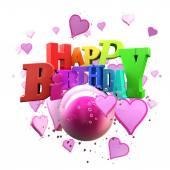 Happy Birthday hearts — Stock Photo