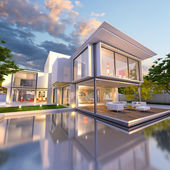 Dream house front — Stock Photo