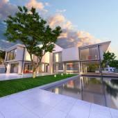 Dream house side — Stock Photo