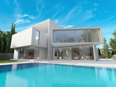 Cubic mansion — Stock Photo