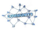 Linked community — Stock Photo