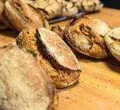 Handmade loafs in bakery — Stock Photo