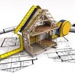 House under construction — Stock Photo #70982611