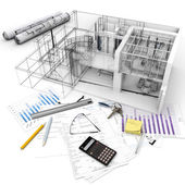Building project process — Stock Photo