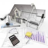 Housing project process — Stock Photo