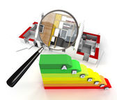 Energy efficiency inspection — Stock Photo