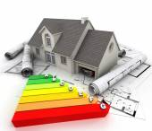 Energy efficient home construction — Stock Photo