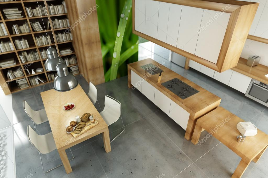 Moderne open keuken — stockfoto © franckito #99917116