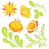 Summer flowers — Stock Vector