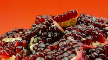 Pomegranate fruit — Stock Video