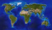 Mapa físico do mundo — Fotografia Stock