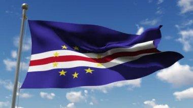 Flag of Cape Verde. — Stock Video