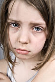 Sad Blue Eyed Child — Stock Photo