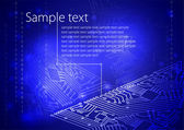 Computer motherboard — Stock Vector