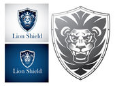 Lion on   Shield — Stock Vector