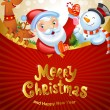 Christmas background with Santa Claus — Stock Vector #57475065