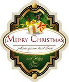 Christmas etiketi — Stok Vektör