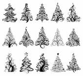 Set of Luxury Christmas Trees. — Wektor stockowy