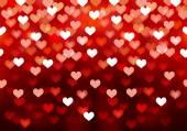 Pink festive lights in heart shape, vector background. — Stock Vector
