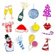 Set of Christmas ornaments — Stock Vector #58366313