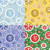 Patrón con copos de nieve — Vector de stock