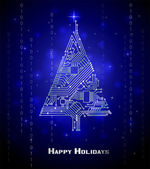 Hi-tech Christmas tree — Stock Vector