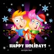 Happy Holidays greetings. — Stock Vector #60533273